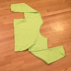 Other - Neon green cropped off the shoulder sweatshirt